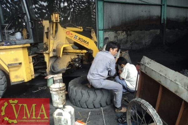 xuong sua chua may cong trinh trung quoc - Xưởng sửa chữa máy công trình Trung Quốc